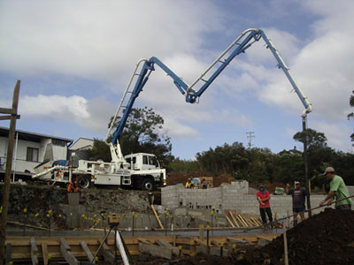 A Concrete Pumping project in in South Coast